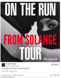 Jay Z 100 Problems Meme - solange and jay z memes sent internet into overdrive daily mail online