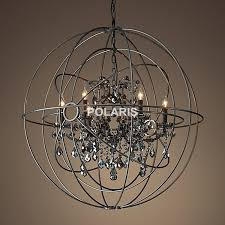 Candle Hanging Chandelier Aliexpress Com Buy Free Shipping Vintage Orb Crystal Chandelier