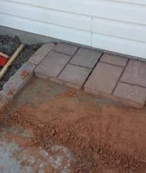 Lowes Concrete Walkway Molds by How To Install Rubber Patio Pavers On Dirt Envirotile Menards
