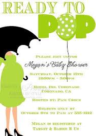 ready to pop green baby shower invitation