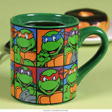 teenage mutant ninja turtles squares mug 80s cartoon coffee mugs