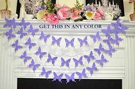 lavender baby shower decorations butterfly garland lavender purple butterflies baby