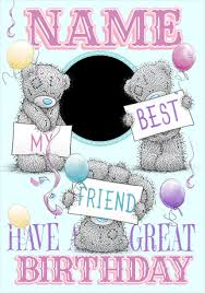 me to you photo upload best friend birthday card funky pigeon
