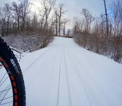 fat bike trail report maplelag resort