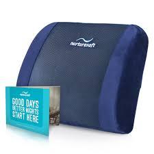 amazon com nurturesoft orthopedic lumbar support back cushion