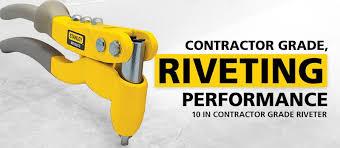 stanley mr100cg contractor grade riveter rivet gun amazon com