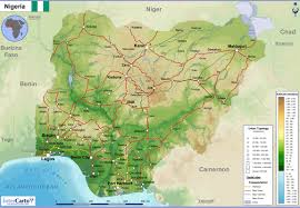 nigeria physical map geography nigeria and climate change