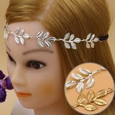 grecian headband 2017 new design alloy leaf leaves grecian garland forehead