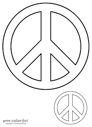 peace sign print color fun free printables coloring pages