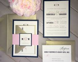 navy and blush wedding invitations navy and blush wedding invitations for boho chic wedding