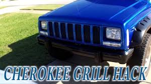 chrome grill insert hack jeep cherokee xj for cheap youtube
