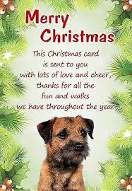 border terrier christmas cards collection on ebay