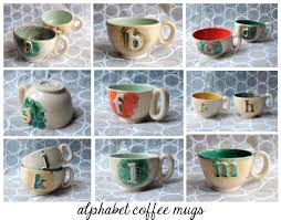 handmade mugs handmade ceramics alphabet mugs nursery rhyme teapots and