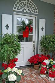decorations floral bucket entrance door christmas decor