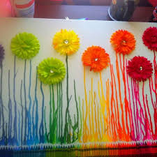 spring painting ideas 28 fantastic melted crayon art ideas listing more