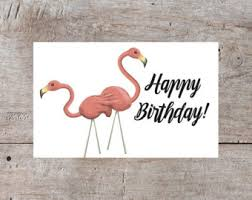 flamingo pun card etsy