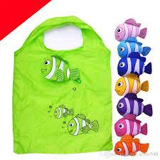 2017 sale folding clown fish shopping bag animal eco