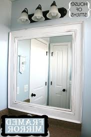 brushed nickel framed mirror bathroom frame project lowe u0027s mirrors