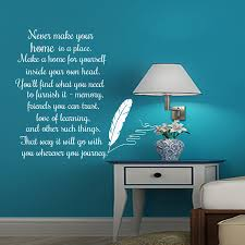 compare prices on text wall online shopping buy low price text never make your home in a place english text wall sticker feather writing home decor vinyl