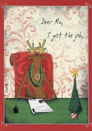 i got the job funny humorous christmas card by paper magic