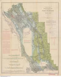 Canadian Rockies Map George Mercer Dawson Turner Valley Gas Plant Alberta U0027s Energy