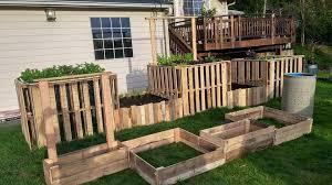 Wood Pallet Garden Ideas Garden Ideas Using Pallets Interior Design