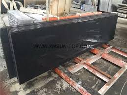 black granite table top g654 table tops china impala black granite reception counter top