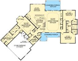 Jack And Jill Style Bedroom Plan 3877ja Rustic Angled Ranch Home Plan Bonus Rooms Bedrooms