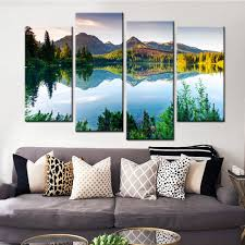 Wall Art Paintings For Living Room Online Get Cheap Mountain Wall Art Aliexpress Com Alibaba Group