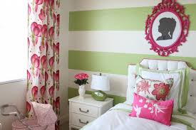 pink and green room preppy modern pink green girl s room project nursery