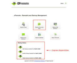 public html restaura la carpeta public html completa con cpremote backup