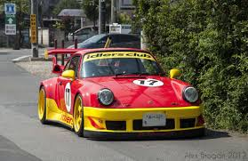 porsche 964 red spotted red yellow rwb porsche 964 cars