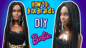 how to make box braid hairstyle for barbie doll diy doll yarn