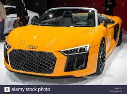 Audi R8 Yellow - manhattan new york usa 23rd mar 2016 yellow audi r8 spyder is