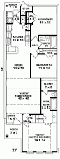 house plan narrow house plans plan square foot ranch home design