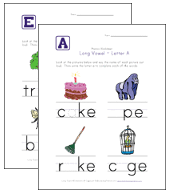 long vowel worksheets all kids network