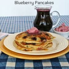 blueberry pancakes with blueberry maple syrup recipes food and