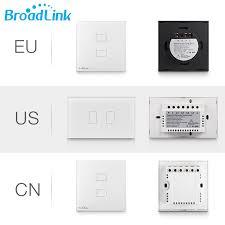 touch screen wall light switch broadlink wifi light switch tc2 2gang smart wall light switch plug