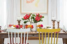 target table setting emily henderson mid century modern dining