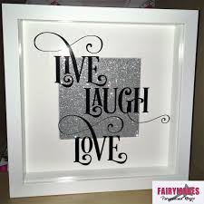 live laugh love box frame fairymakes