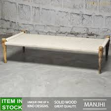 White Wicker Bedroom Bench Manjhi Woven Indian Daybed Day Bed Bench Charpai Charpoy Manjha