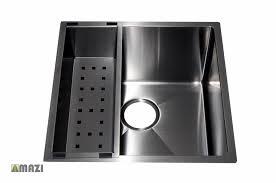kitchen gun stainless steel handmade kitchen sink sb1295 gun metal color