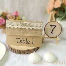 Place Cards Wedding Aliexpress Com Buy Burlap Lace Kraft Paper Place Card Wedding