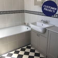 Border Tiles For Bathrooms Black U0026 White Border Tiles Gosford Tiles 285x95x9mm Tiles