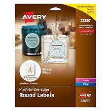 amazon com avery print to the edge round labels 2 5