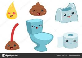 funny poo cartoon toilet u2014 stock vector verovski 132523726