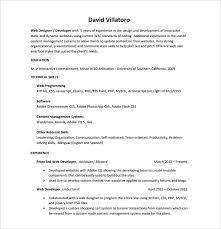 front end developer resume front end developer resume web exle dwighthowardallstar