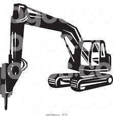 royalty free vector logo of a bulldozer by patrimonio 715