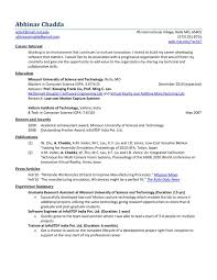 Resume Summary Examples For Software Developer Objective In Resume For Software Engineer Fresher Writing