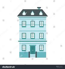 vector illustration flat cartoon house city stock vector 576449377